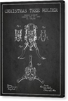 Christmas Tree Holder Patent From 1880 - Charcoal Canvas Print