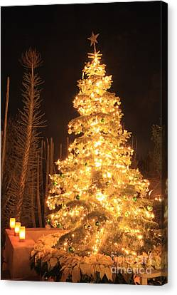 Dean Russo Canvas Print - Christmas Tree Lights by Boon Mee