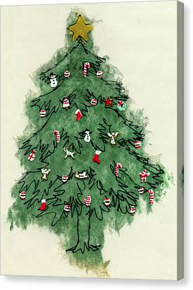 Three Kings Canvas Print - Christmas Tree by Mary Helmreich