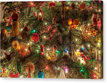 Christmas Tree Ornaments Canvas Print by Sonny Marcyan