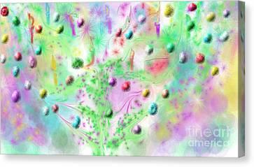 Christmas Tree Canvas Print by Rosana Ortiz