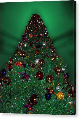Christmas Tree Canvas Print by Thomas Woolworth