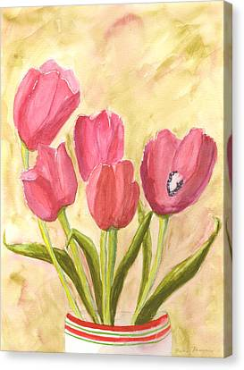 Tulip Time Canvas Print by Mickey Krause