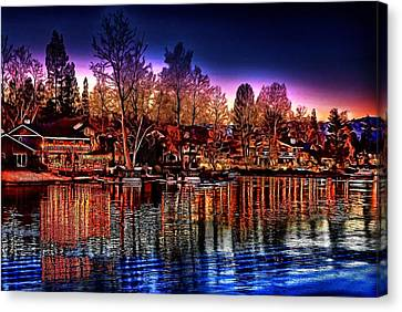 Christmas Twilight Canvas Print by Cary Shapiro