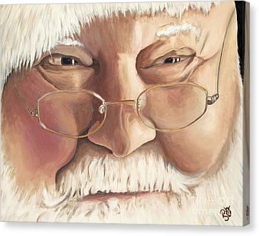 Christmas Twinkle Santa Canvas Print by Patty Vicknair