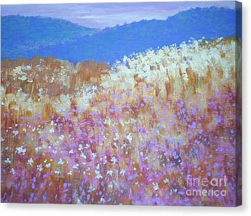 Canvas Print featuring the painting Christmas Valley Oregon by Suzanne McKay