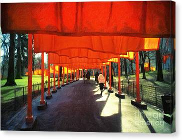 Christo - The Gates - Project For Central Park Canvas Print