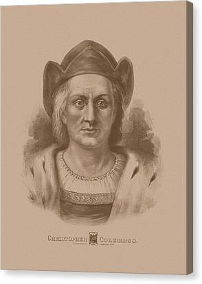 Christopher Columbus Canvas Print by War Is Hell Store