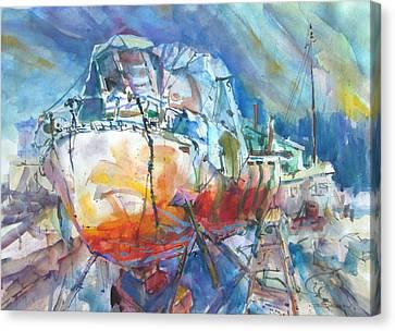 Christo's Boat Canvas Print