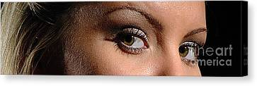 Christy Eyes 89 Canvas Print by Gary Gingrich Galleries