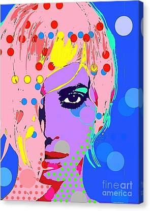 Christy Turlington Canvas Print by Ricky Sencion