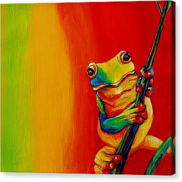 Chroma Frog Canvas Print by Jean Cormier