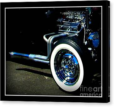 Canvas Print featuring the photograph Chrome  by Bobbee Rickard