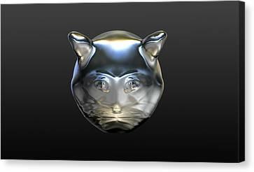 Chrome Cat Canvas Print