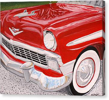 Chrome King 1956 Bel Air Canvas Print by Vicki Maheu