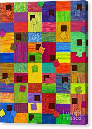 Chronic Tiling Canvas Print by David K Small