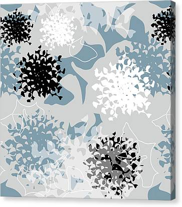 Canvas Print featuring the digital art Chrysanthemum by Jocelyn Friis