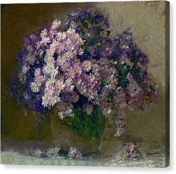 Chrysanthemums 2 Canvas Print by Vasiliy Agapov
