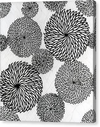 Chrysanthemums Canvas Print by Japanese School