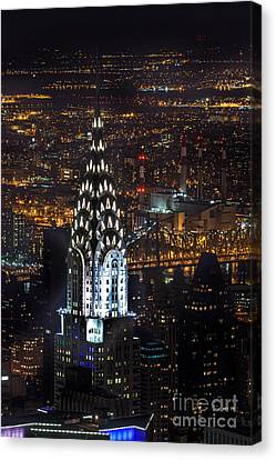 Chrysler Building Canvas Print - Chrysler Buiilding by John Farnan