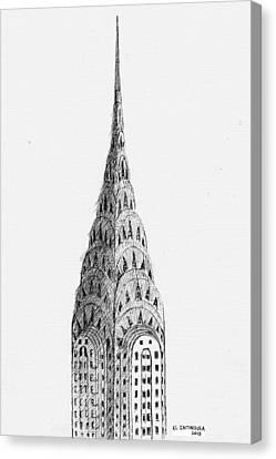 Chrysler Building Canvas Print by Al Intindola