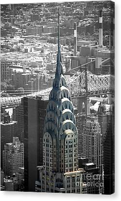 Chrysler Building Canvas Print by Angela DeFrias
