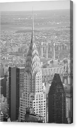 Chrysler Building Black And White Canvas Print by Robert  Moss