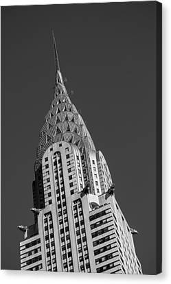 Building Canvas Print - Chrysler Building Bw by Susan Candelario