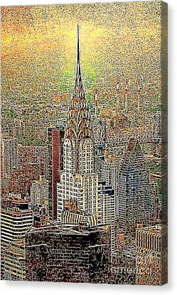 Manhatten Canvas Print - Chrysler Building New York City 20130425 by Wingsdomain Art and Photography