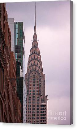 Canvas Print featuring the photograph Chrysler Building by Rafael Quirindongo