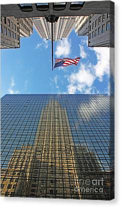 Chrysler Building Reflections Vertical 1 Canvas Print by Nishanth Gopinathan