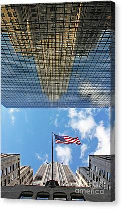 Chrysler Building Reflections Vertical 2 Canvas Print by Nishanth Gopinathan