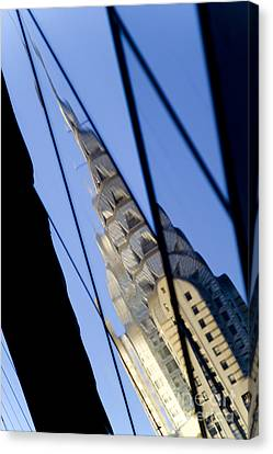 Chrysler Building Canvas Print by Tony Cordoza