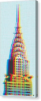 Chrysler Pop Art Canvas Print