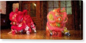 Chua Truc Lam Two Dragons - Fine Brush Canvas Print by Shawn Lyte