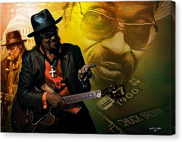 Chuck Brown Canvas Print by Lynda Payton