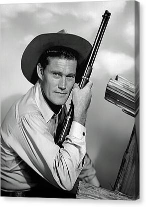 Chuck Connors - The Rifleman Canvas Print by Mountain Dreams