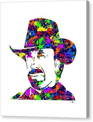 Chuck Norris Paint Splatter Canvas Print