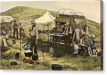 Wagon Canvas Print - Chuck Wagon by Don  Langeneckert