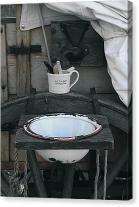 Chuck Wagon Wash Basin Canvas Print by Kae Cheatham