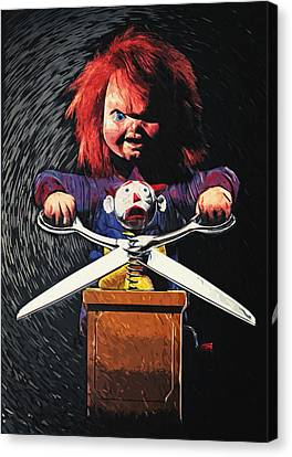 Chucky Canvas Print by Taylan Apukovska