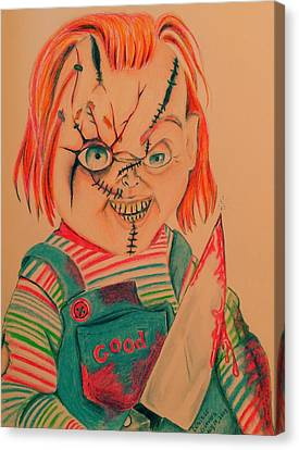Chucky's Back Canvas Print by Denisse Del Mar Guevara