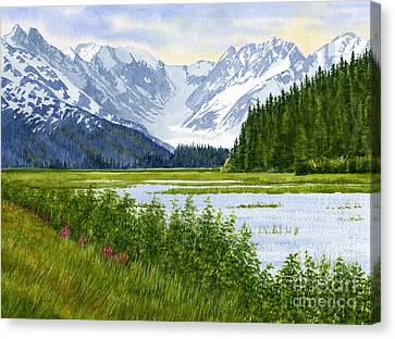 Chugach Glacier View Canvas Print by Sharon Freeman