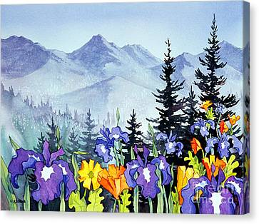 Canvas Print featuring the painting Chugach Summer by Teresa Ascone