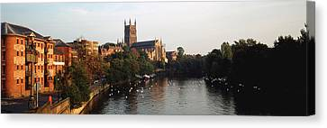 Church Along A River, Worcester Canvas Print
