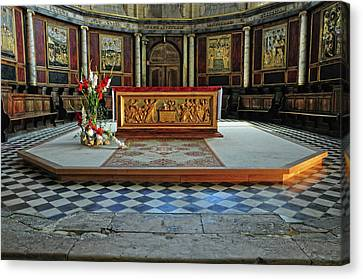 Canvas Print featuring the photograph Church Alter Provence France by Dave Mills