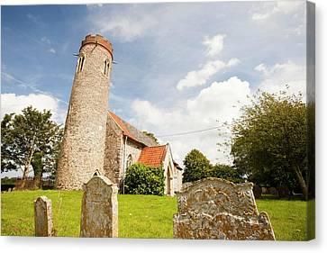 Church And Churchyard Canvas Print
