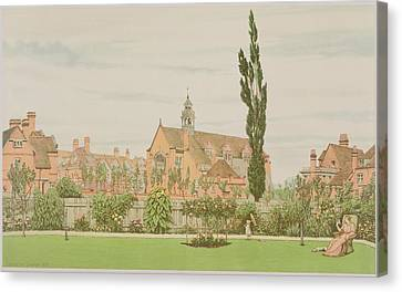 Church And Parsonage, Bedford Park, 1881 Canvas Print by Frederick Hamilton Jackson
