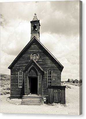 Canvas Print featuring the photograph Church At Bodie by Jim Snyder