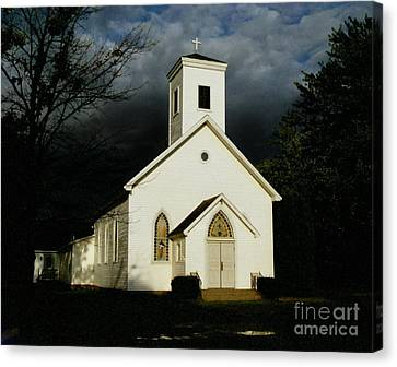 Church At Dusk Canvas Print